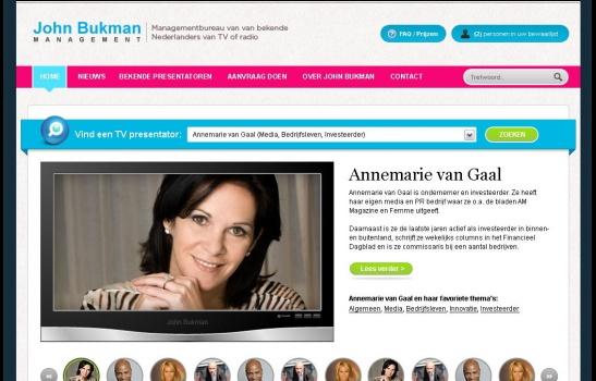 John Bukman Management Managementbureau van van bekende Nederlanders van TV of radio