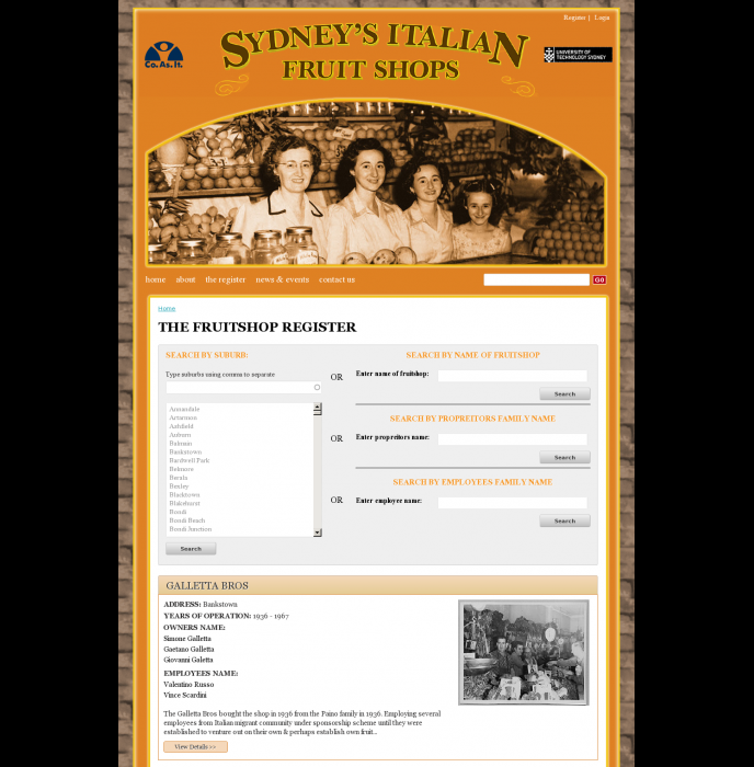 Sydneys Italian Fruitshops