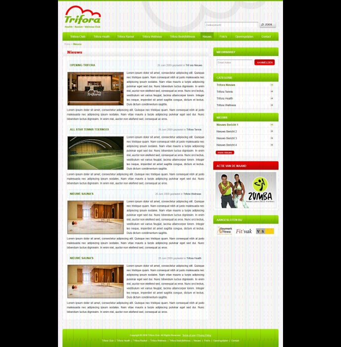 Trifora – Health – Racket – Wellness Club